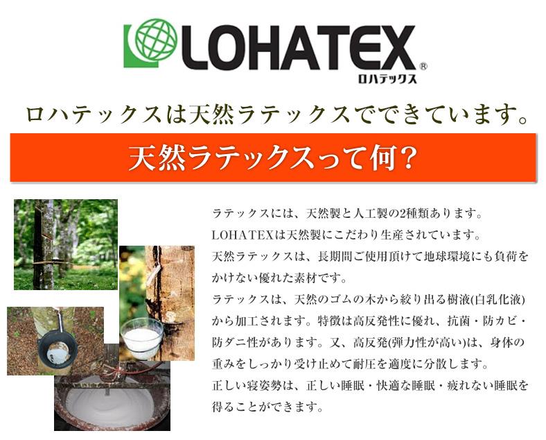LOHATEX ロハテックスは天然ラテックスでできています。